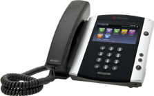 Telephone for hosted telephony