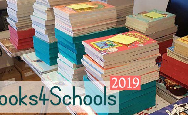 Books4Schools piles of books