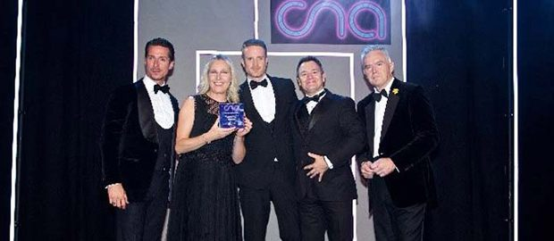evoke on stage at the CNA awards
