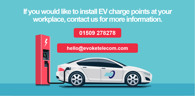 If you would like to install EV charge points at your workplace, contact us for more information
