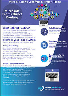 Microsoft Teams direct routing brochure cover