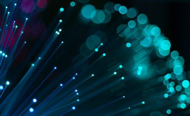 fibre optic cables up close