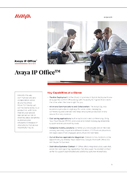 avaya ip office brochure cover
